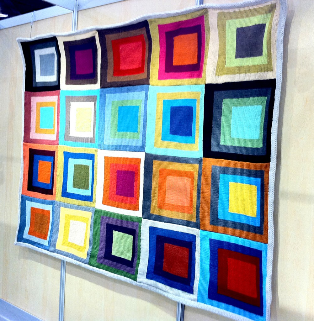 Colorful Quilt at Lion Brand Yarn Booth
