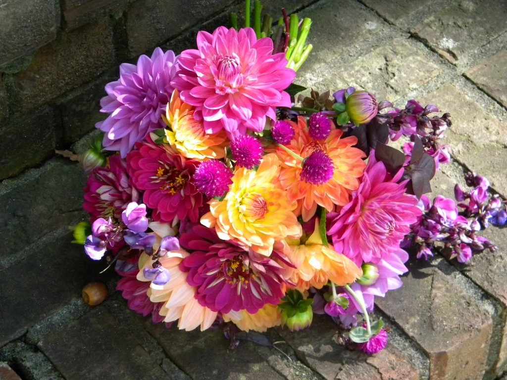 Bouquet of Dahlias & Zinnias