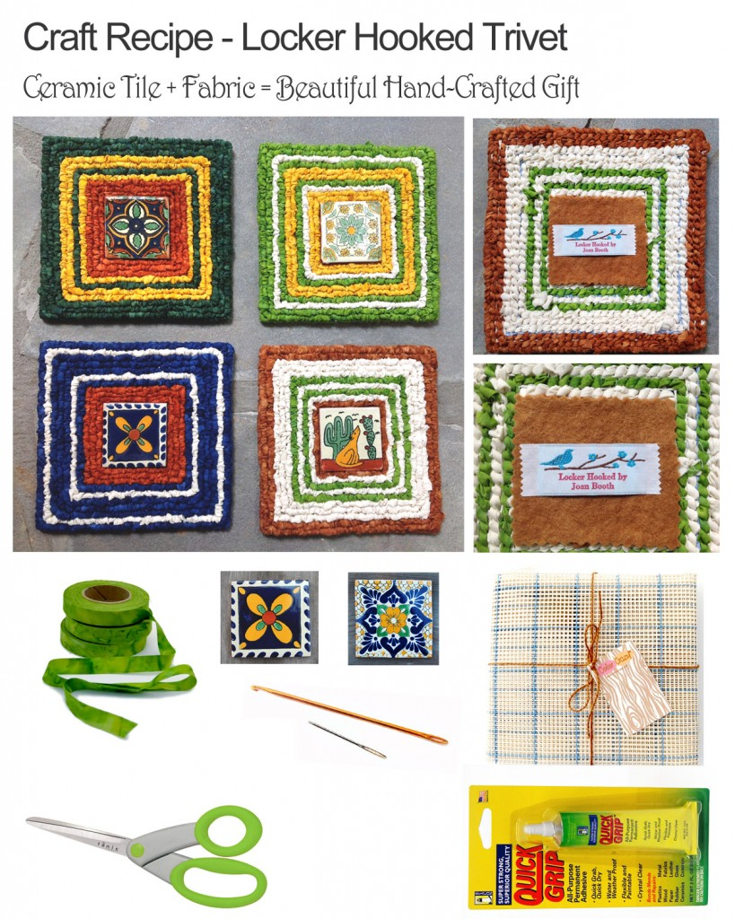 Craft Recipe: Locker Hooked Mat / Trivet with Tile