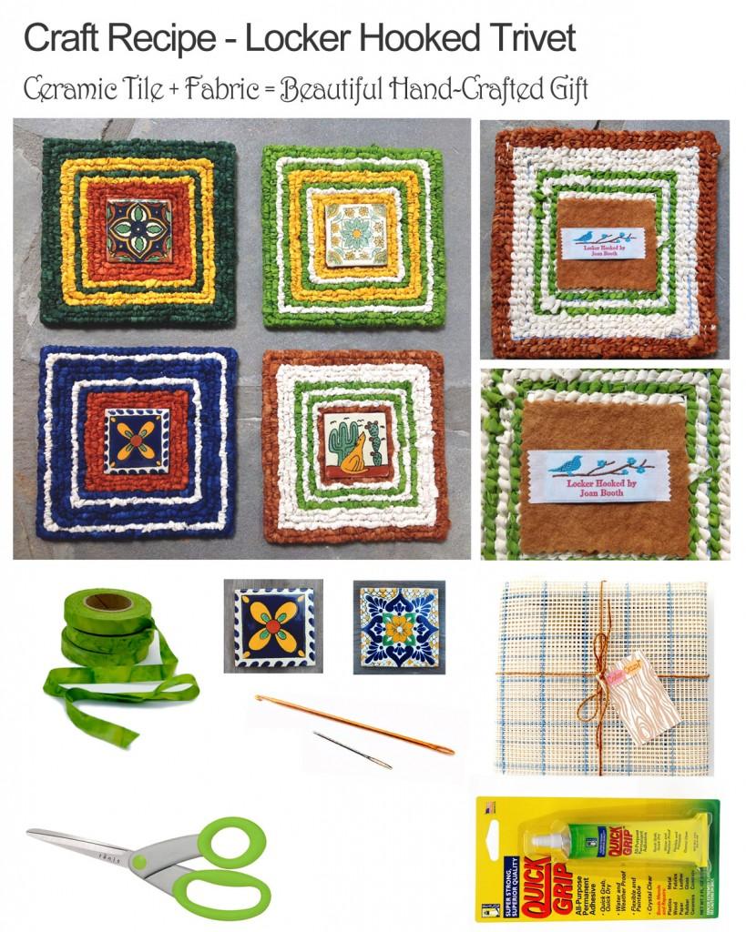 Craft Recipe: Locker Hooked Mat / Trivet with Tile