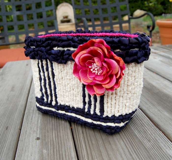 Nautical Stripes Blossom Basket