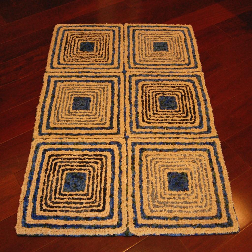 Spiral Squares Rug