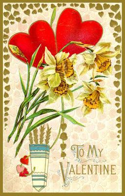 Vintage Daffodil Valentine