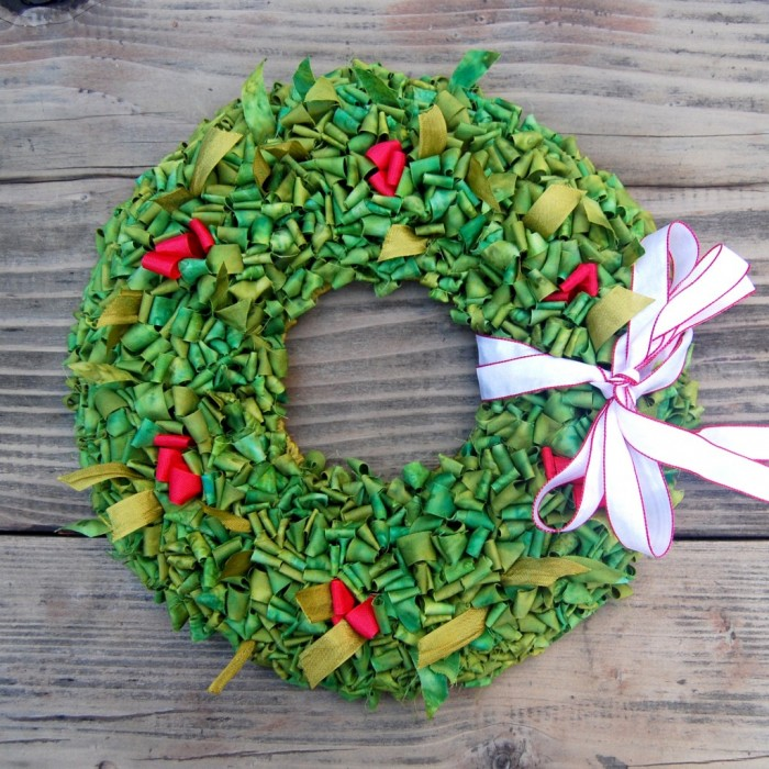Locker Hooked Holiday Wreath--Accent a Door or Table