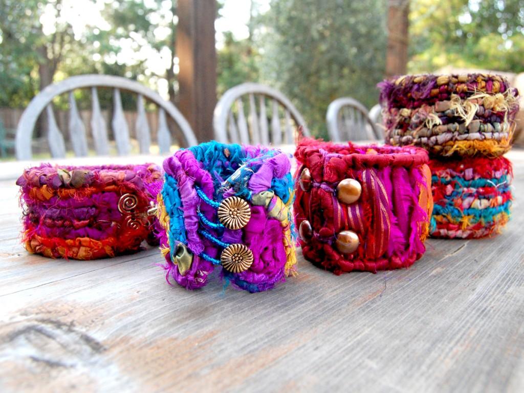 Sari Silk Bangle Bracelets