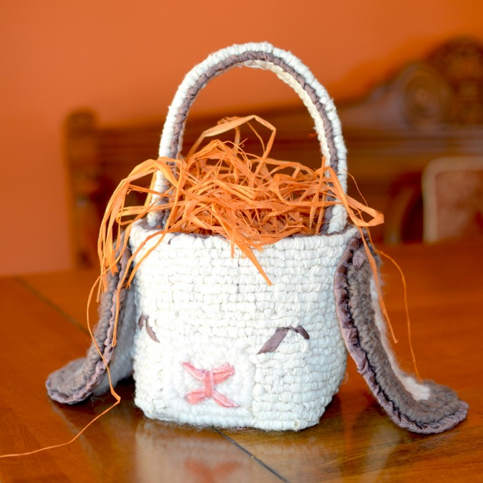 Floppy Eared Bunny Basket - Locker hooked