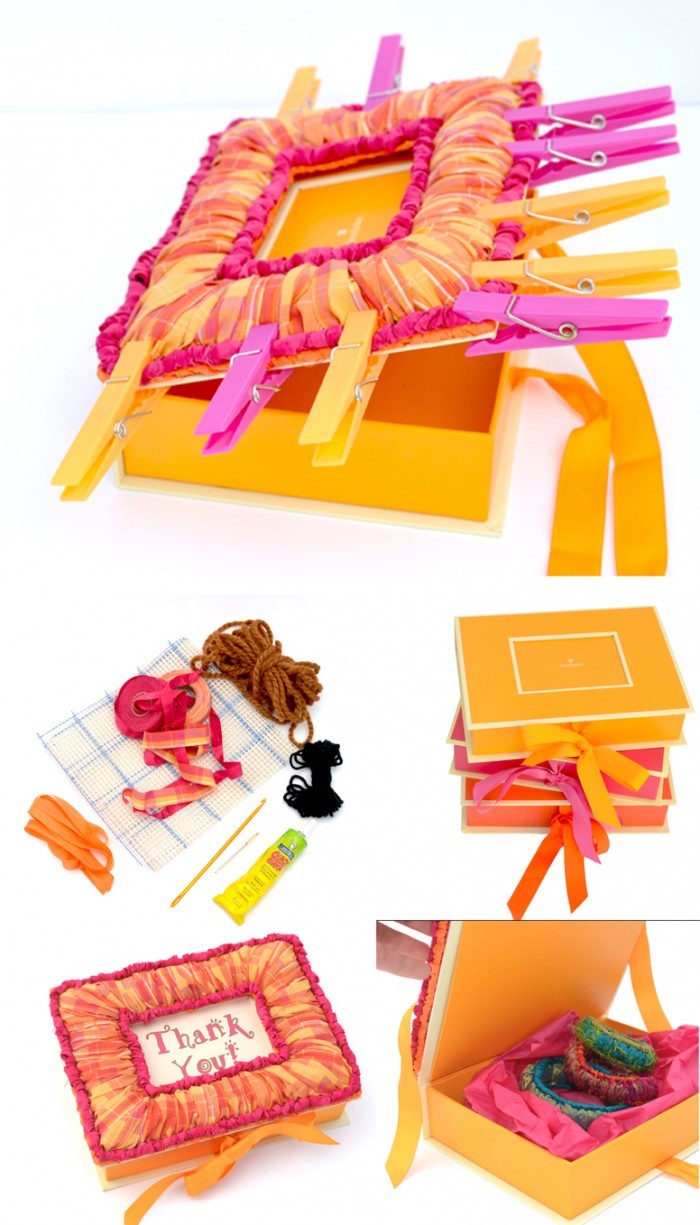 color_crazy_recipe_locker_Hooked_box_frame_fuchsia_orange_pinned-blog