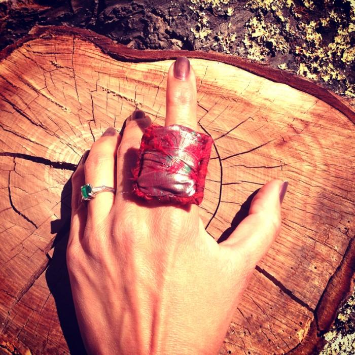 Fiber Gem Ring
