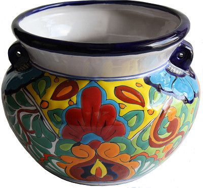 Ceramic Talavera Pot. I just had to buy this!