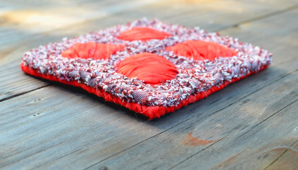 Locker Hooked Petals Coaster - Free Pattern at Color Crazy