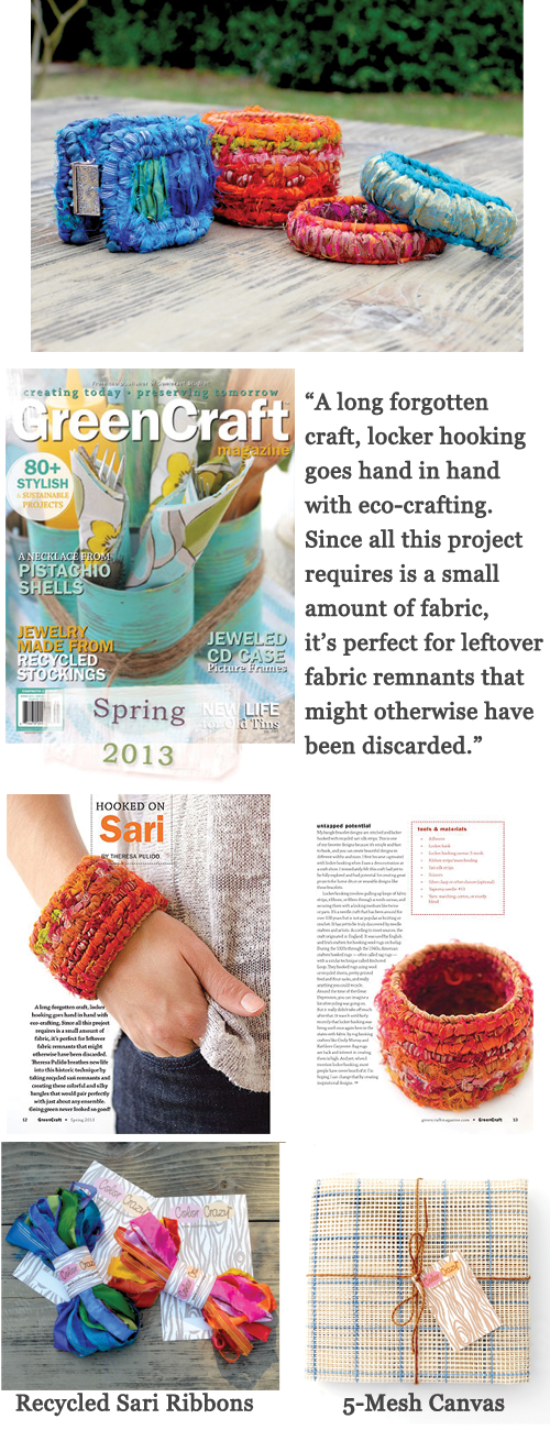 """Hooked on Sari"" Article in ""GreenCraft"" Magazine"