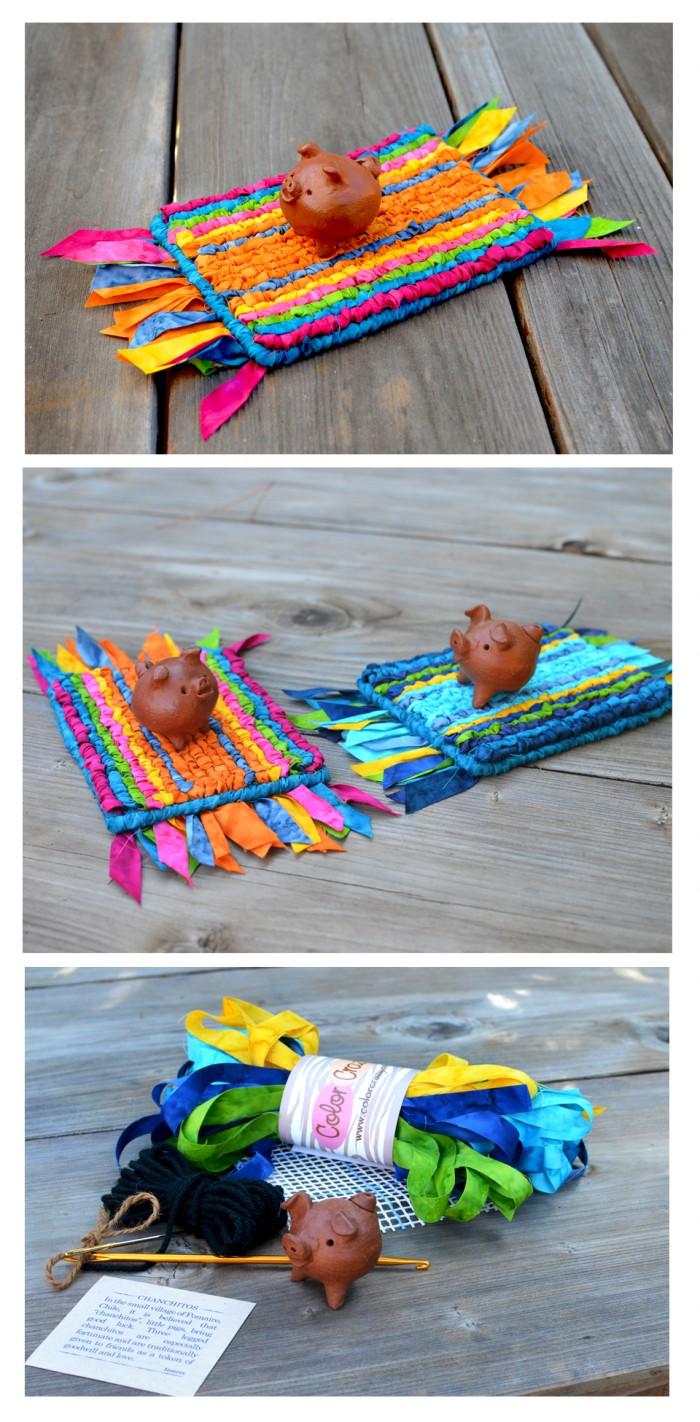 Locker Hooking Starter Kit: Lucky Charm Piggy with Magic Carpet