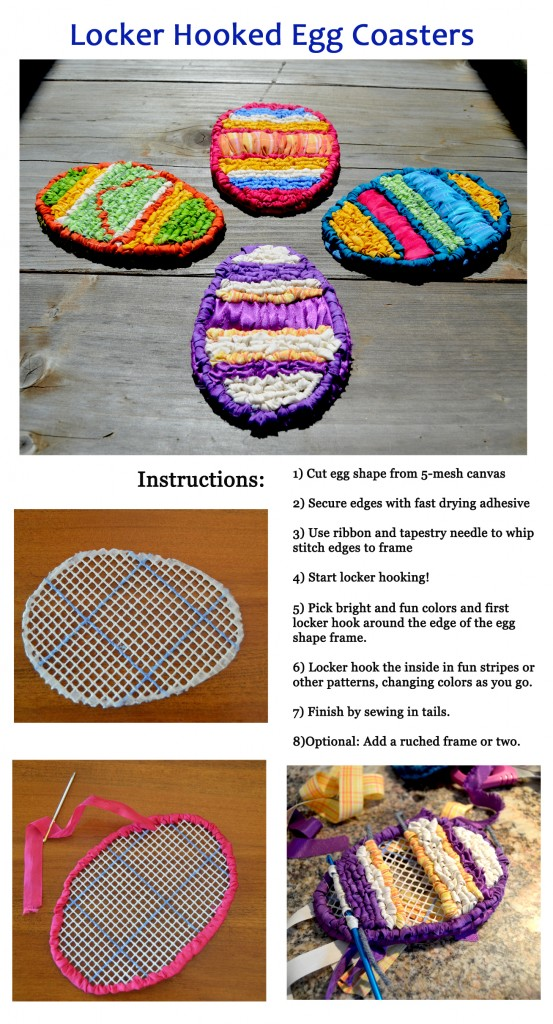 How to locker hook egg coasters