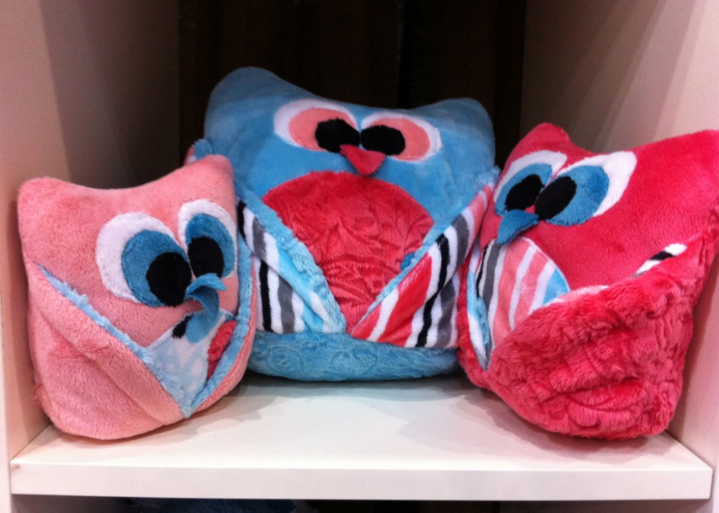 Owl Pillows in Shannon Fabrics