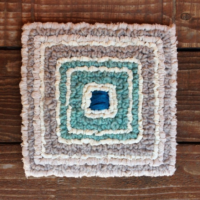 Locker Hooking A Rug With Varied Textures Color Crazy