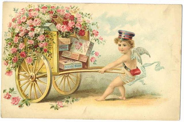 Vintage Valentine - Cupid