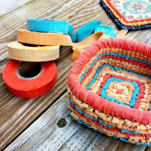 Color Crazy Locker Hook New Vintage Weave Basket Fabric